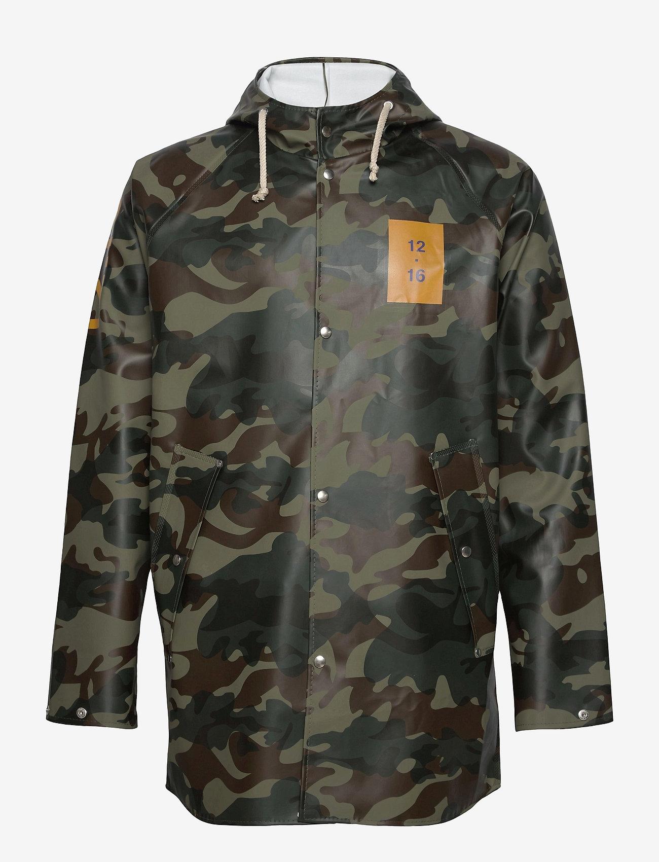 Twelve Sixteen - Normandie 8000 rain jacket - manteaux de pluie - camo green - 0