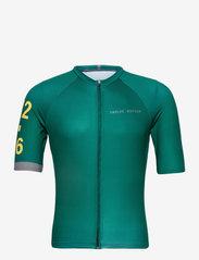 Twelve Sixteen - 0168 Jersey S/S Elite Green/Grey - t-shirts - green/grey - 0
