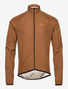 0173 Jacket Elite Micro Brown - sportjackor - brown/orange