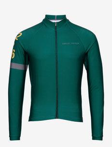 0168 Jersey L/S Elite ANDORRA Green/Grey - Överdelar - green/grey
