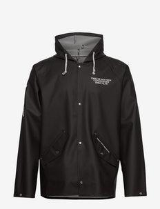 12.16 Rain 200 w/buttons Black - kurtki sportowe - black
