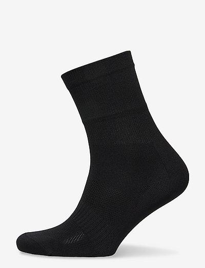0030 Socks RACE Extra High Black - almindelige strømper - black