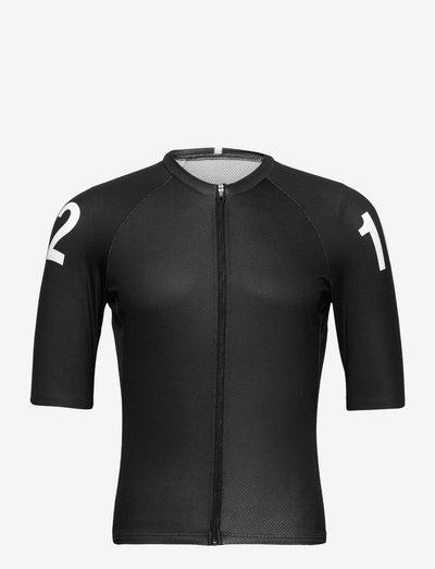 0165 Jersey S/S Elite Black/White - t-shirts - black/white