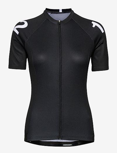 0165 Jersey S/S Elite Black/White Woman - t-shirts - black/white
