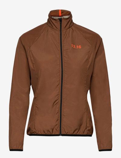 0173 Jacket Elite Micro Brown Woman - veste sport - brown/orange