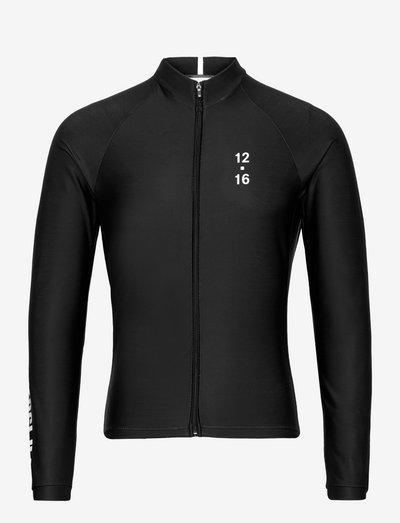 0174 Jersey L/S Elite ANDORRA Black/White - sweaters - black/white