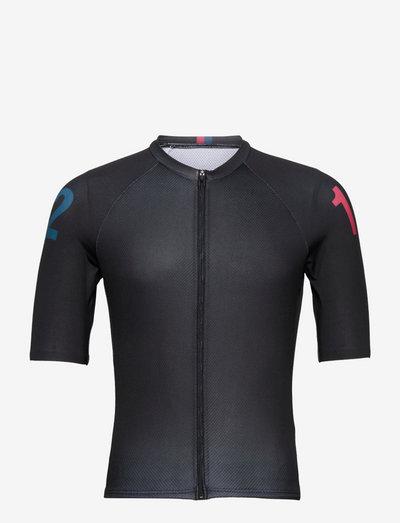 0163 Jersey S/S Elite Dark Grey - t-shirts - grey/red/blue