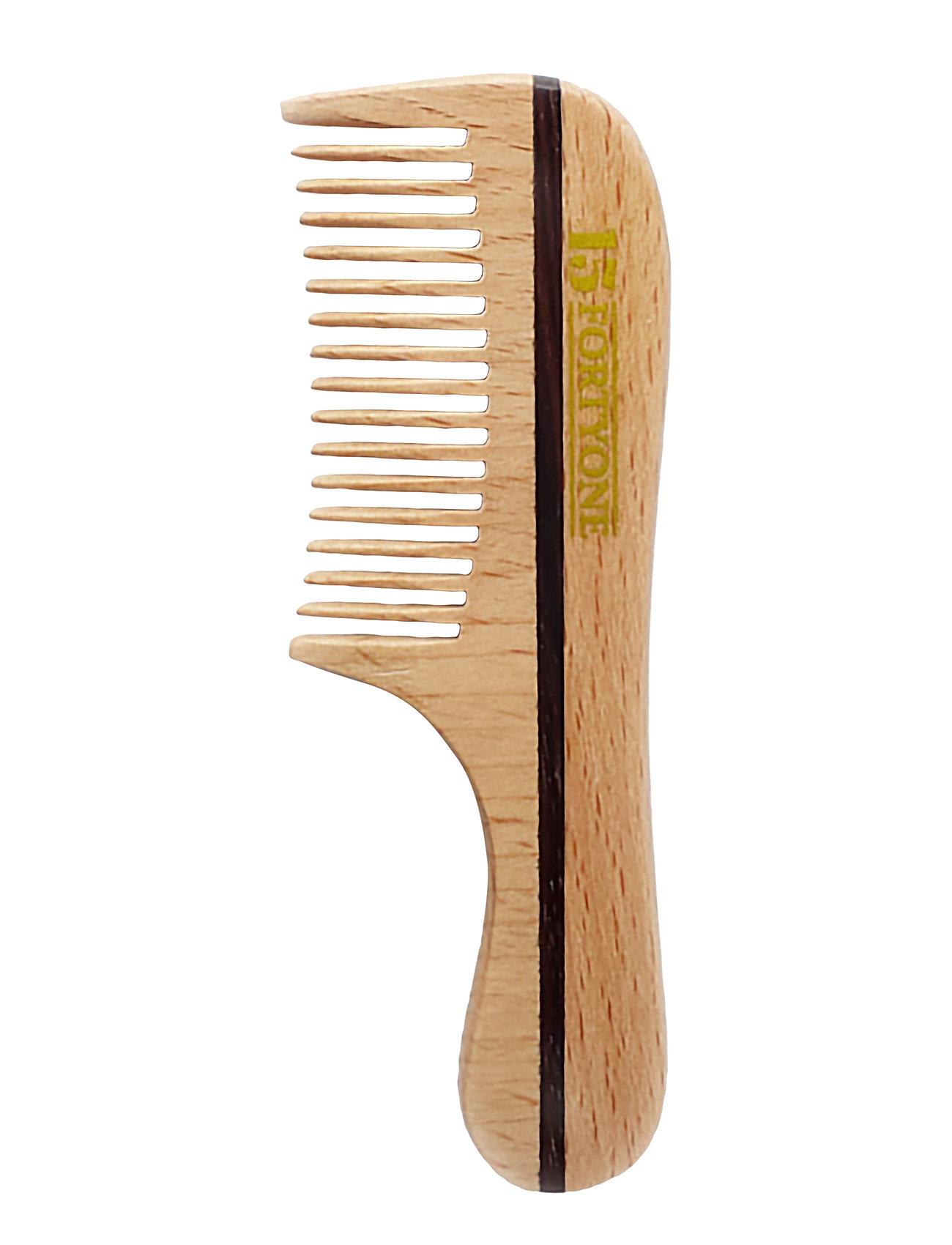 Image of Wooden Moustache/Beard Comb Natural Beechwood Beauty MEN Shaving Products Beard & Mustache 1541 Of London (3408639531)
