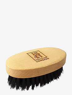 Mini Beard & Moustache Brush Beechwood - skjegg & bart - natural
