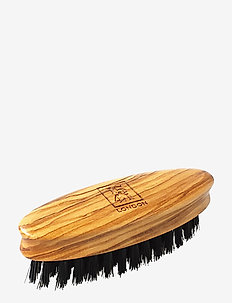 Mini Beard & Moustache Brush Olivewood - skjegg & bart - natural
