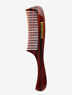 Rounded Pocket Beard Comb - skjegg & bart - brown