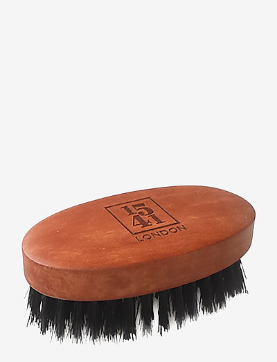Mini Beard & Moustache Brush Pearwood - NATURAL
