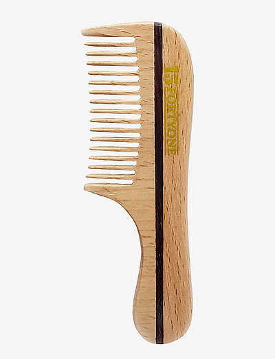 Wooden Moustache/Beard Comb Natural Beechwood - NATURAL