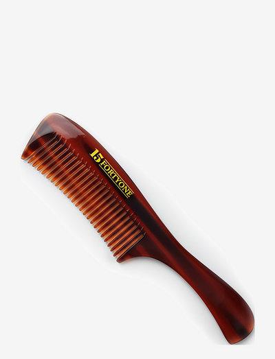 Rounded Pocket Beard Comb - skæg & overskæg - brown