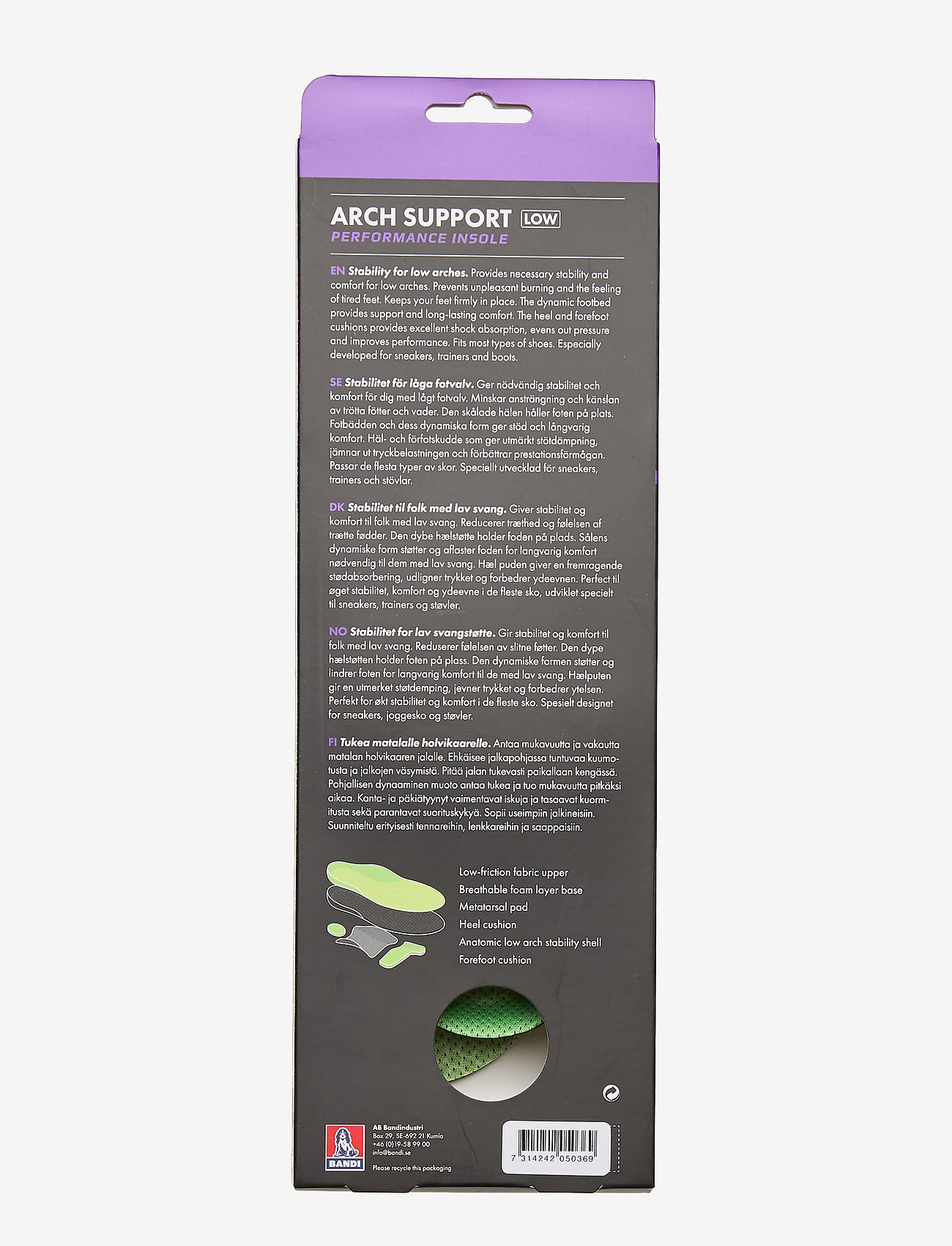 2go Arch Support Low (Green) - 2GO