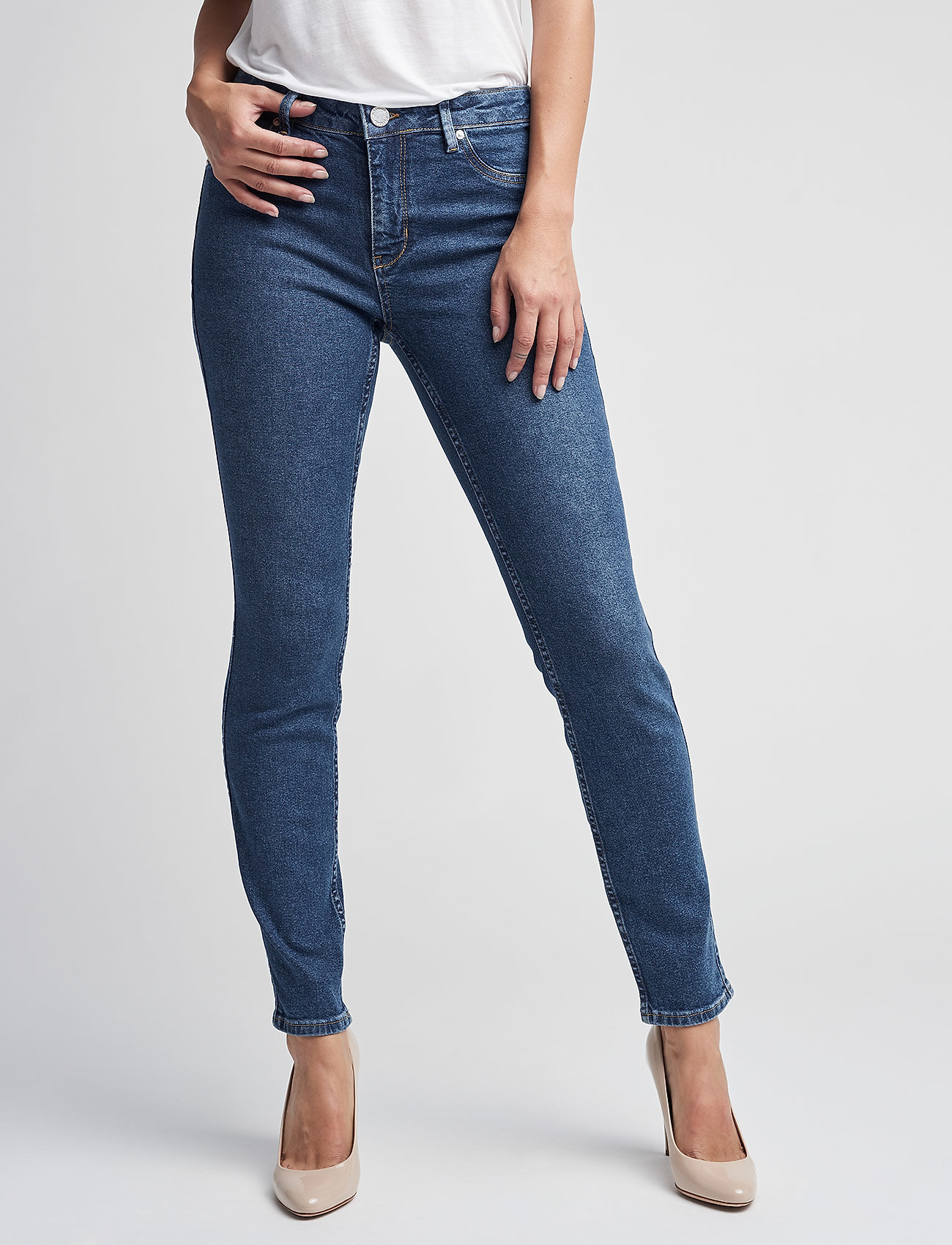 2NDDAY - 2ND Jolie Wauw Cropped - skinny jeans - intense blue - 0