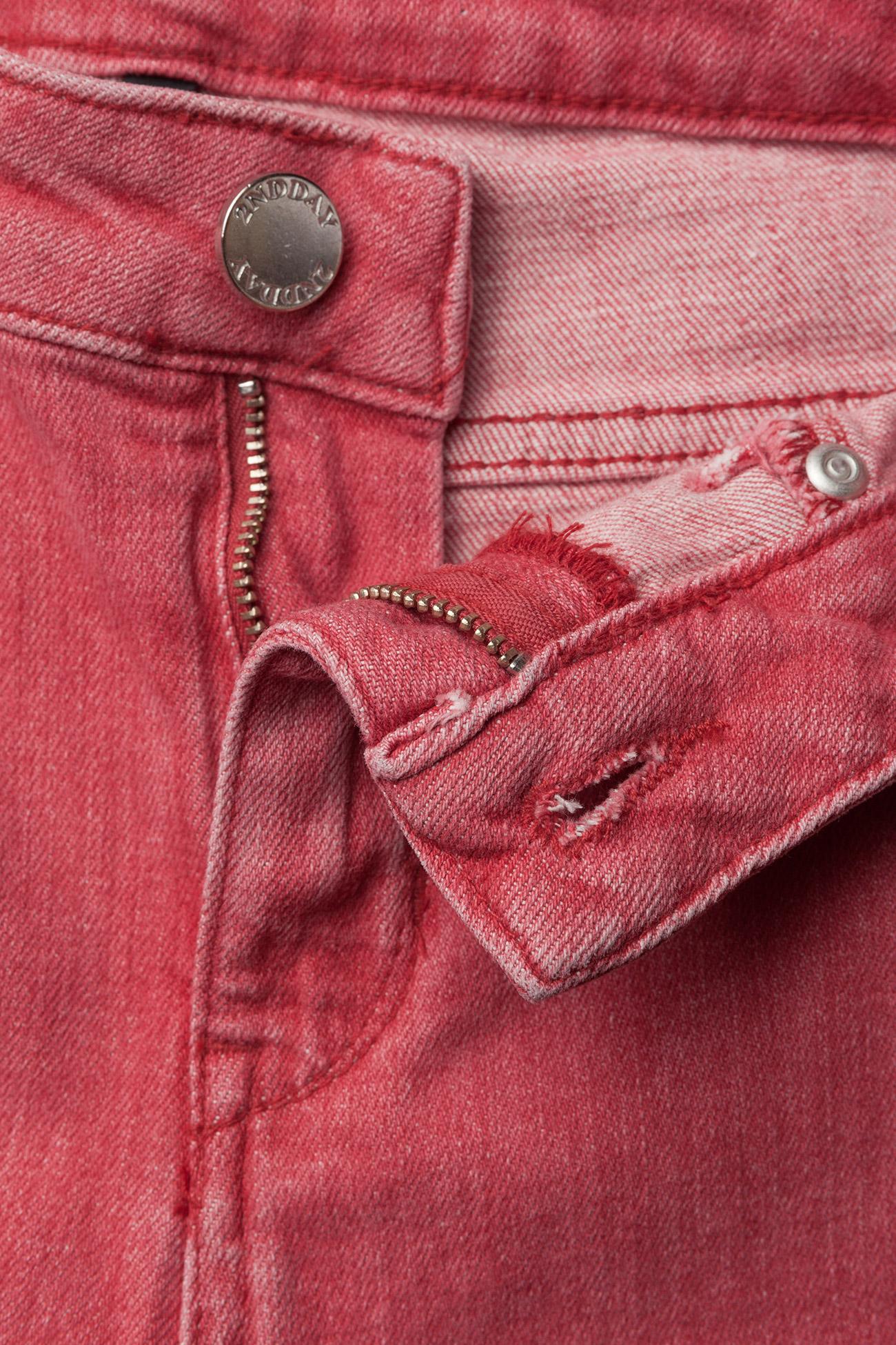 2NDDAY 2ND Jolie Faded - Dżinsy FIERY RED - Kobiety Odzież.