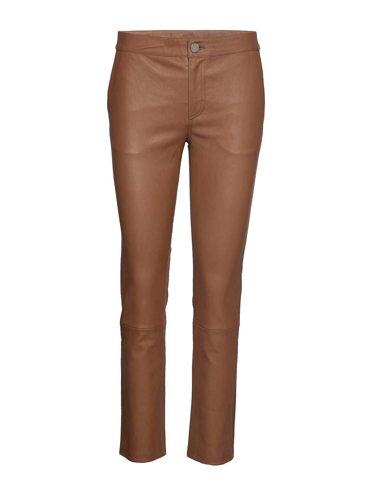 Image of 2nd Leya Leather Leggings/Bukser Brun 2NDDAY (3184437683)