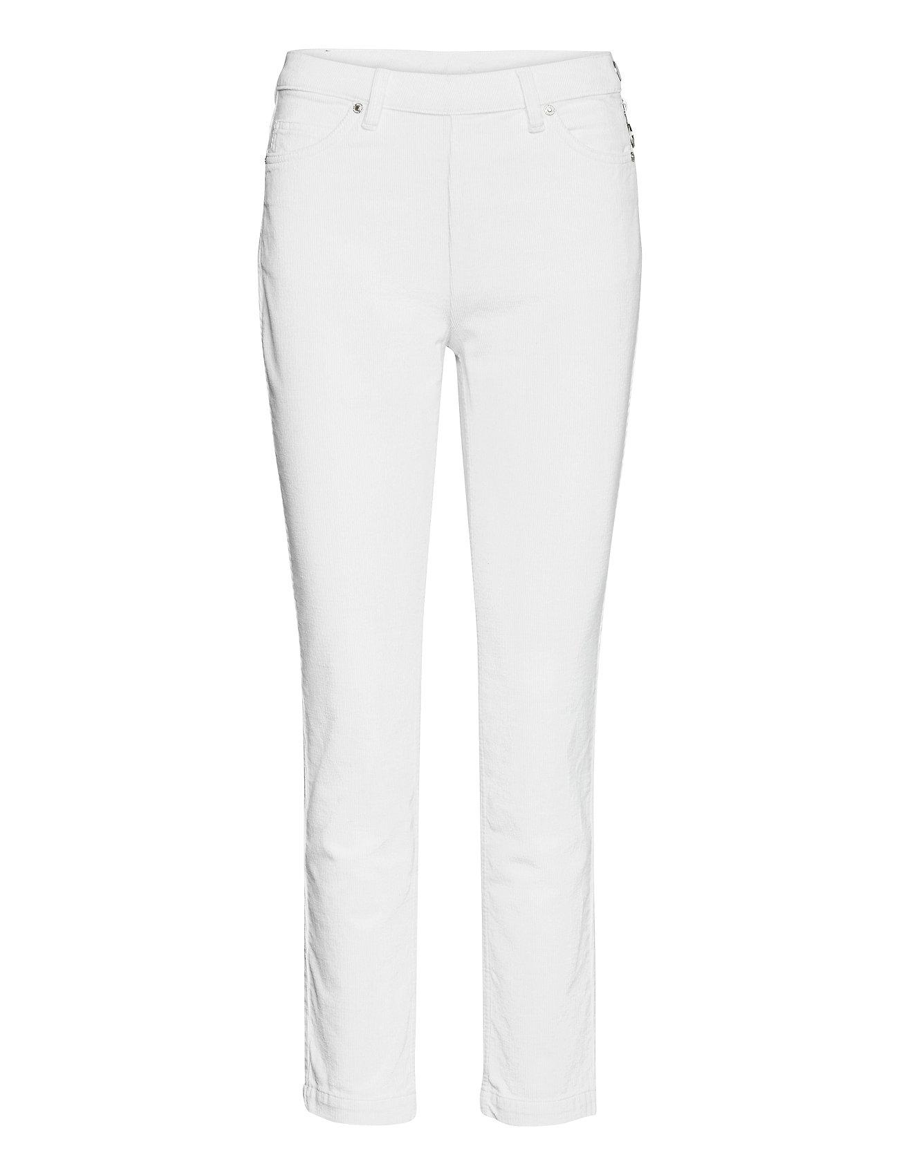 2nd Jeanett Cord Slim Jeans Hvid 2NDDAY