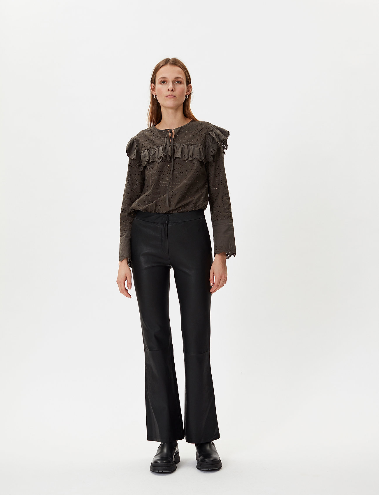 2NDDAY - 2ND Mauser - leather trousers - black - 0