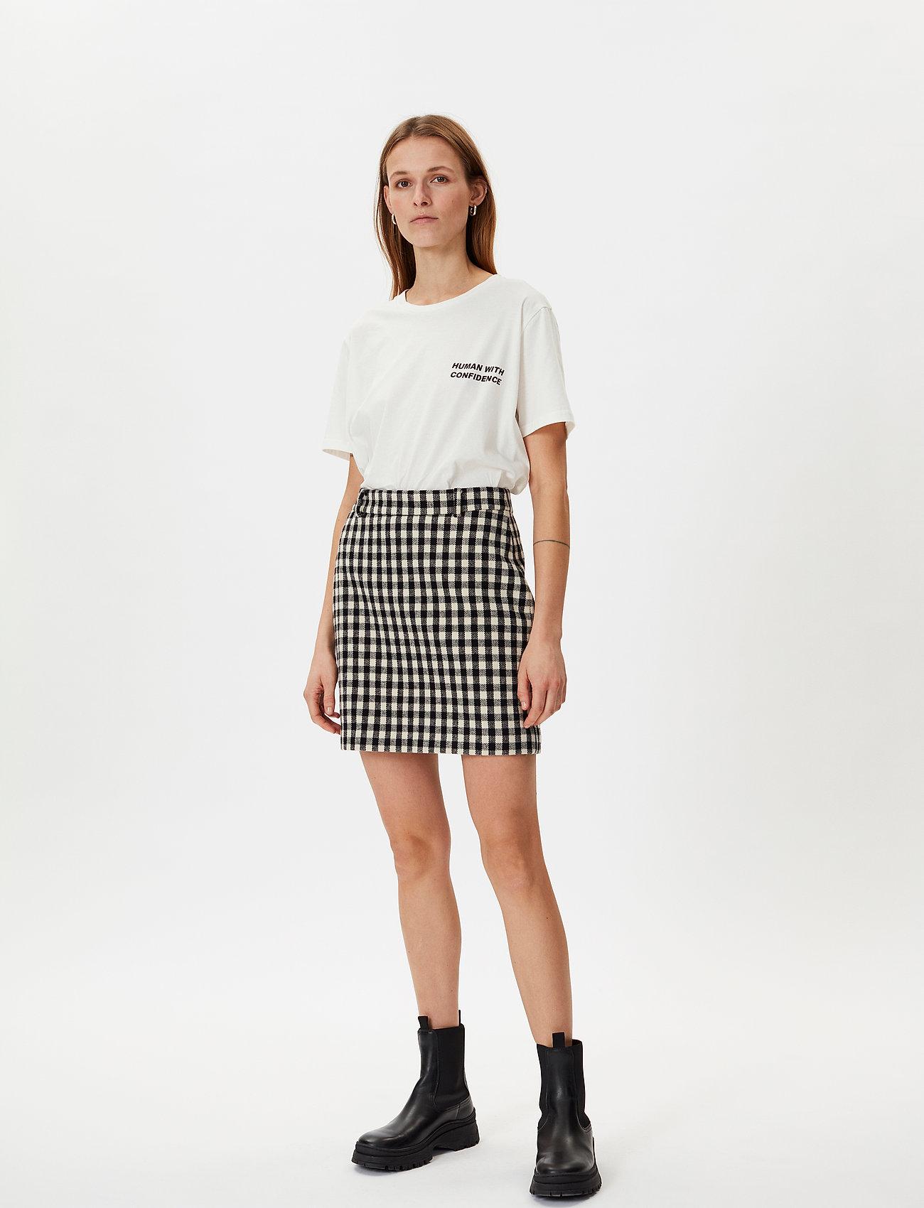 2NDDAY - 2ND Chariton Check - short skirts - black - 0
