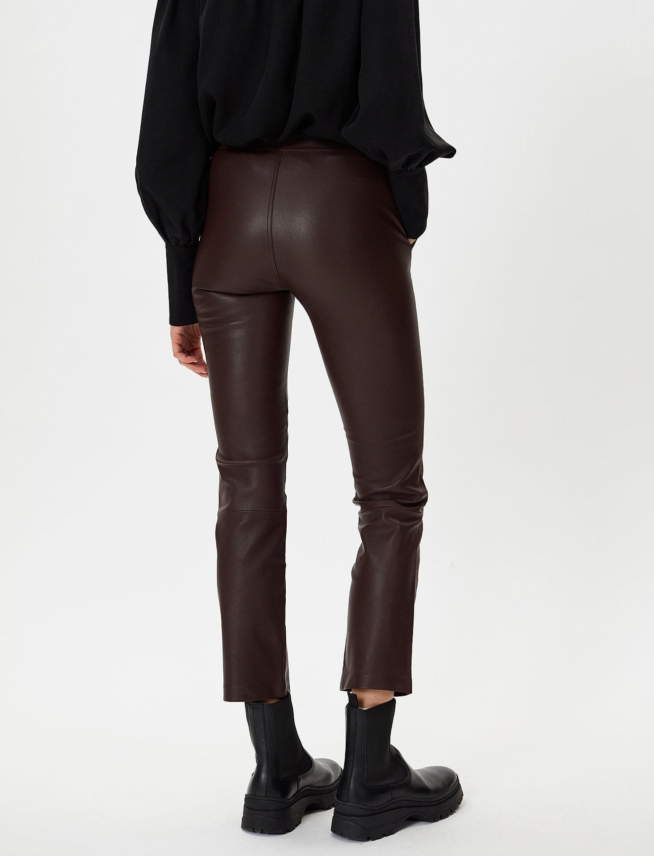 2NDDAY - 2ND Leya - leather trousers - chocolate plum - 3