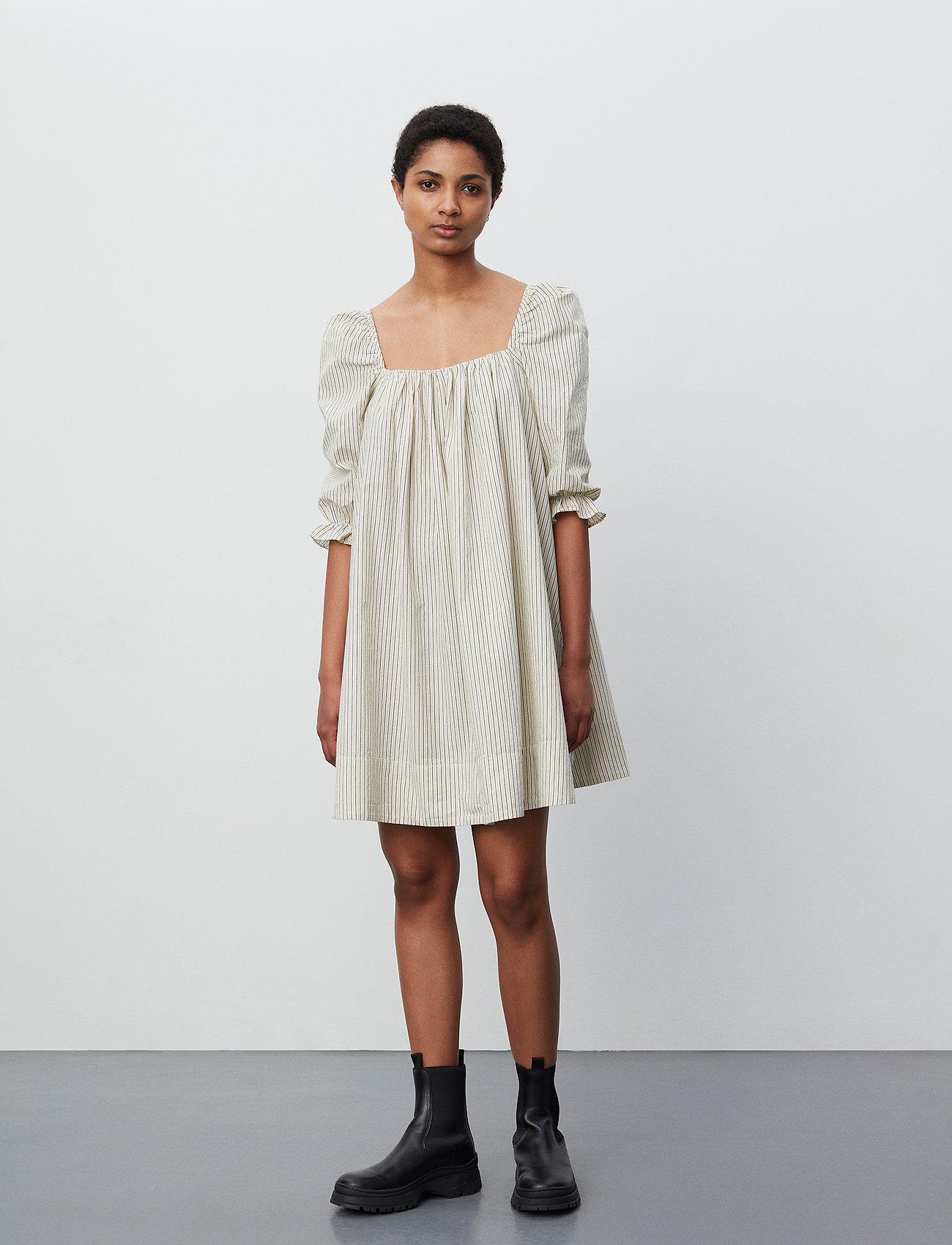 2NDDAY - 2ND Tiana Stripe - midi dresses - taos taupe - 0