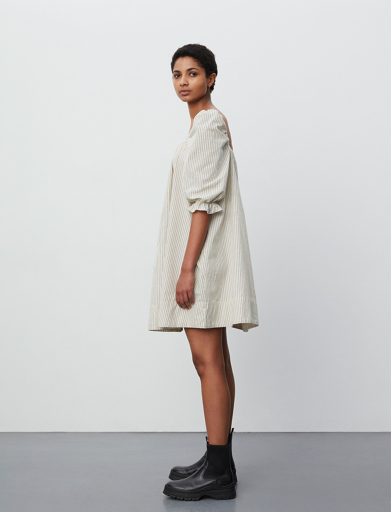 2NDDAY - 2ND Tiana Stripe - midi dresses - taos taupe - 4