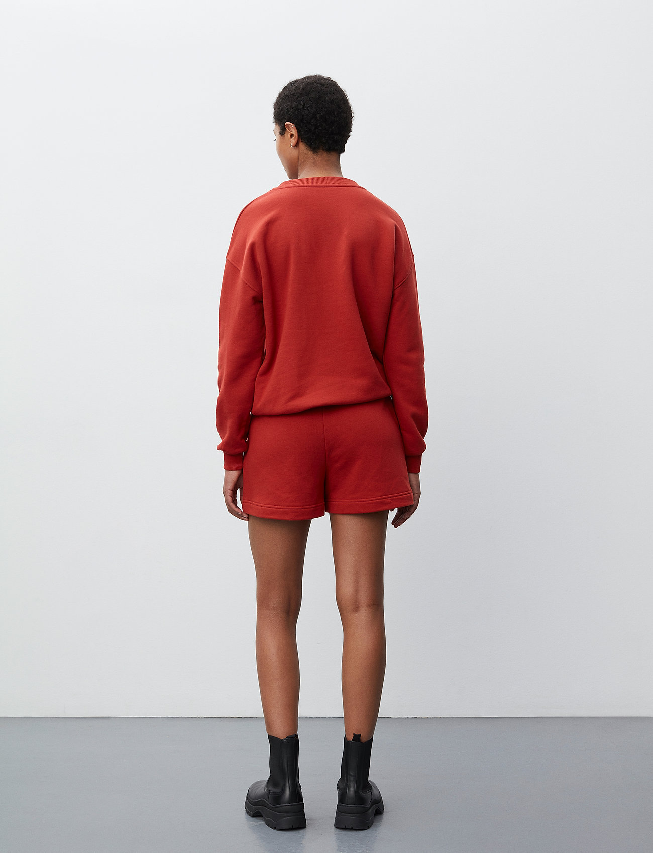 2NDDAY - 2ND Sweat Thinktwice - sweatshirts & hættetrøjer - red ochre - 3