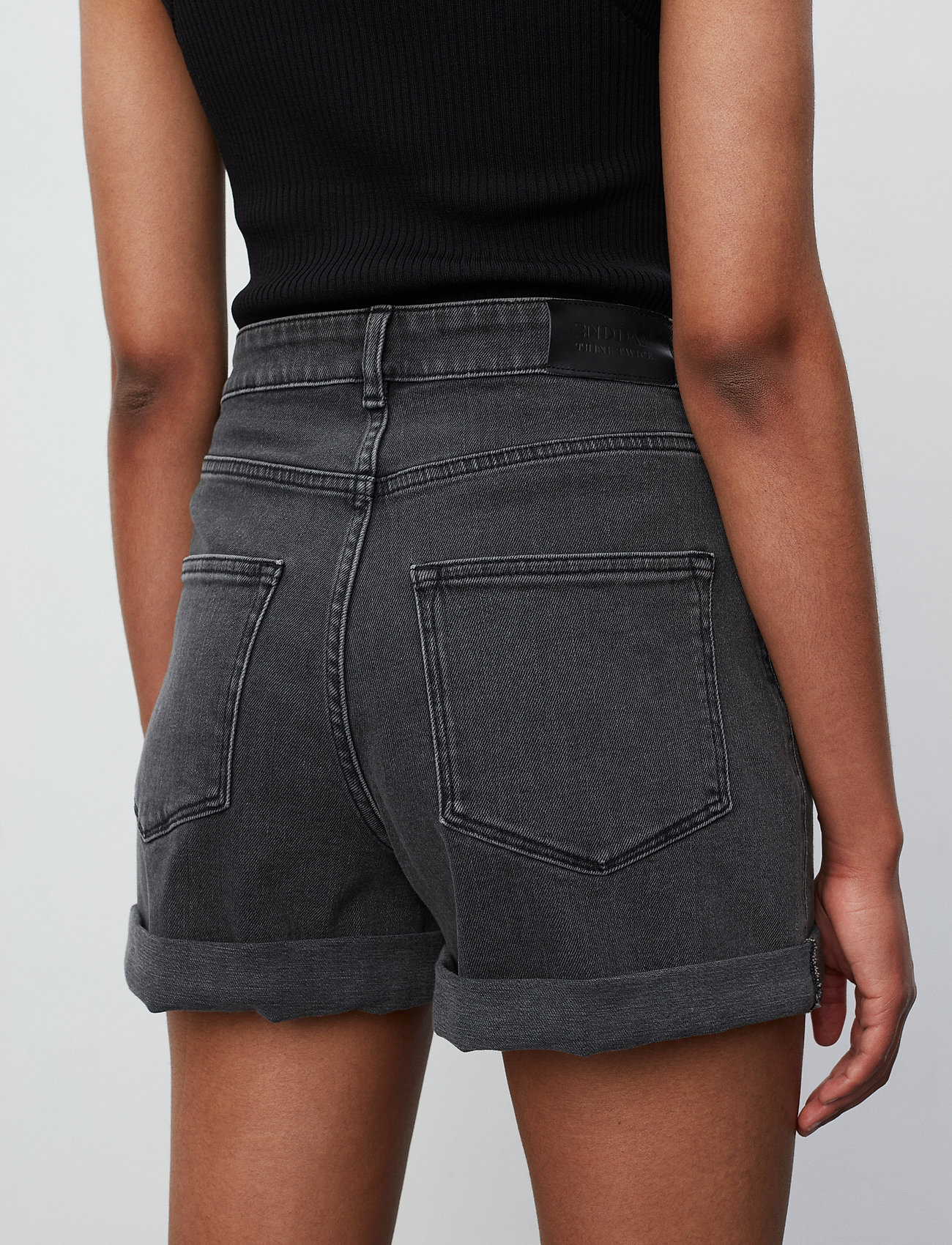 2NDDAY - 2ND Goa Thinktwice - jeansshorts - un black denim - 3