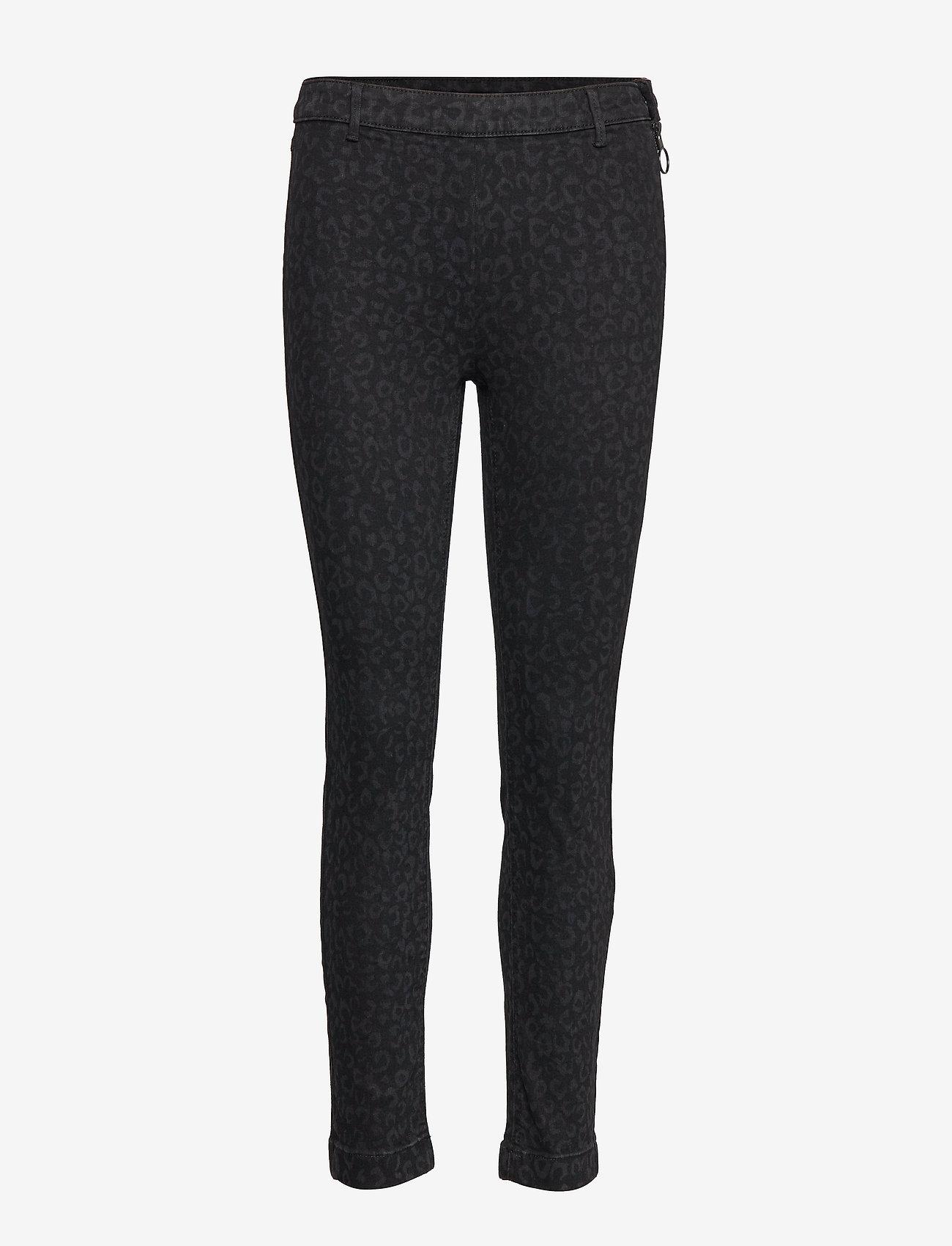 2NDDAY - 2ND Jeanett Leopard - skinny jeans - black denim - 0