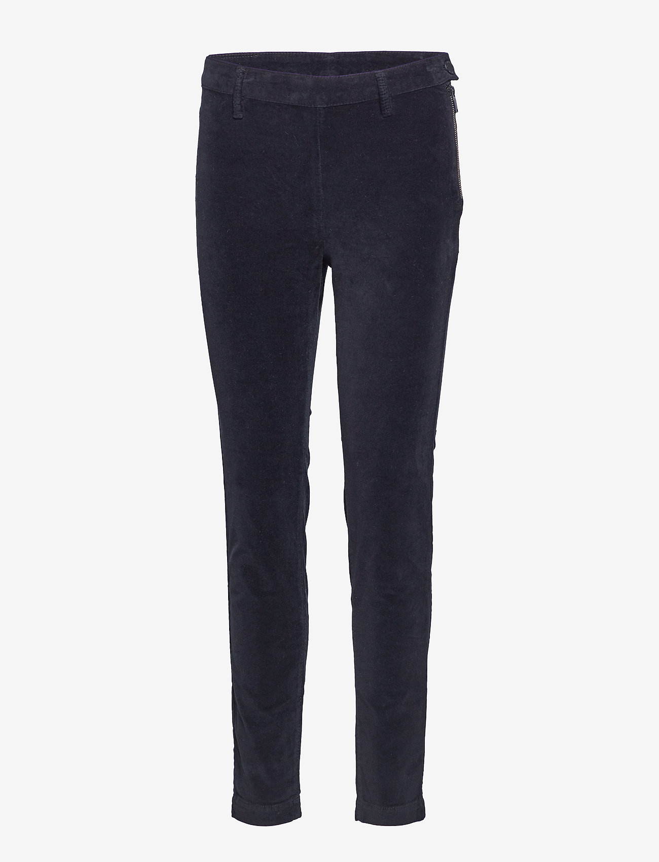 2NDDAY - 2ND Jeanett Velvet - straight leg trousers - black - 0