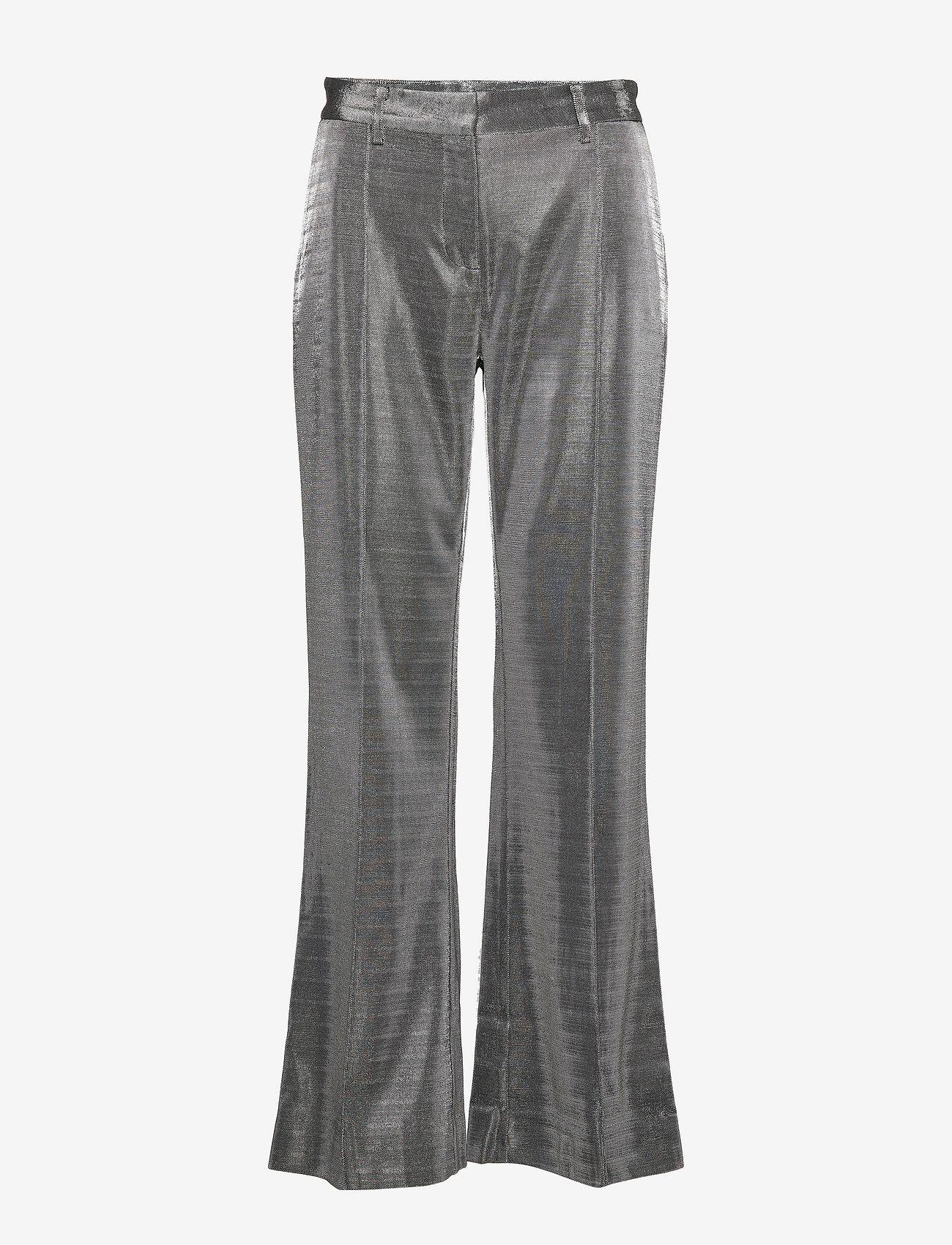 2NDDAY - 2ND Farrow - wide leg trousers - silver - 0
