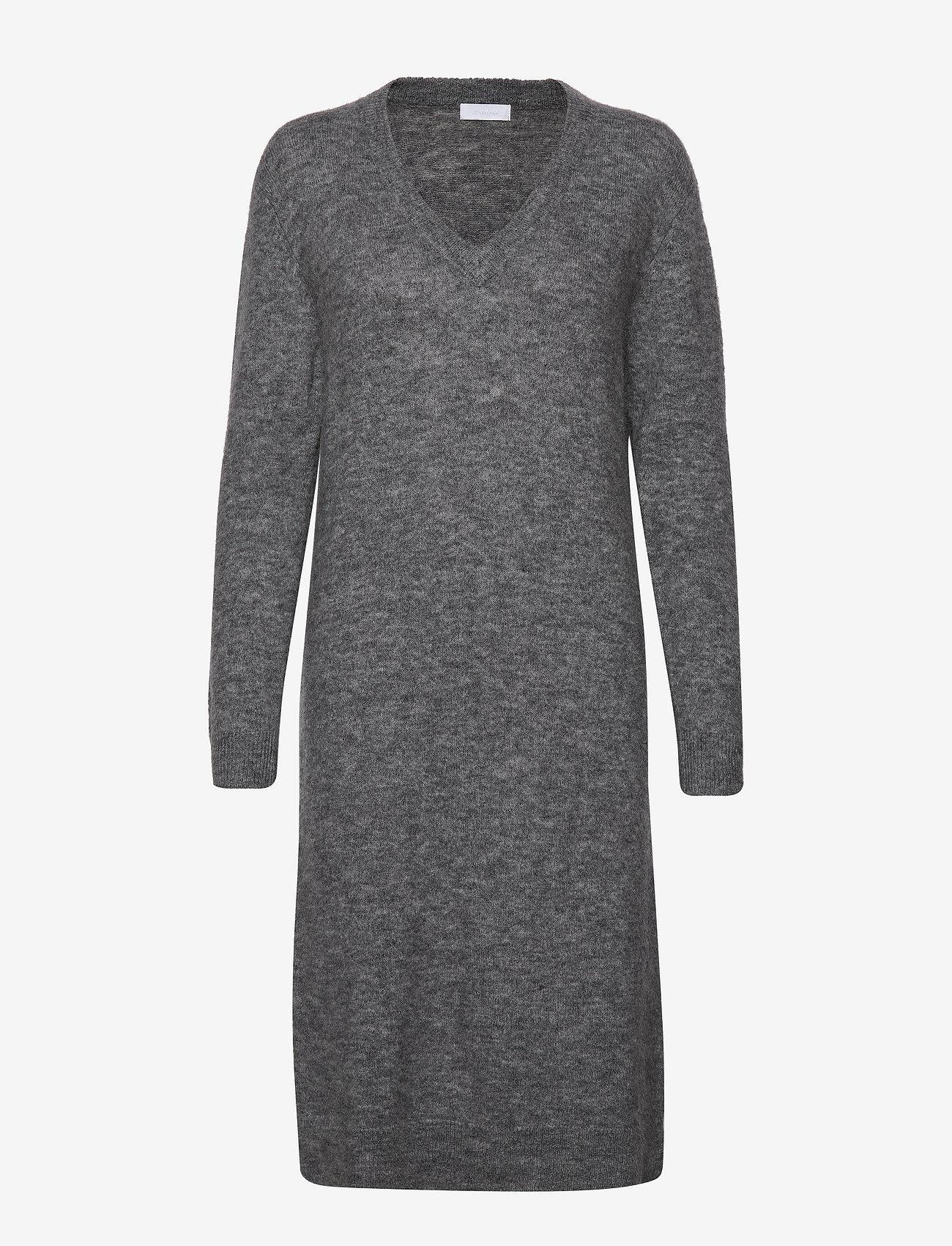 2NDDAY - 2ND Cozy - midi kjoler - medium grey mel. - 0