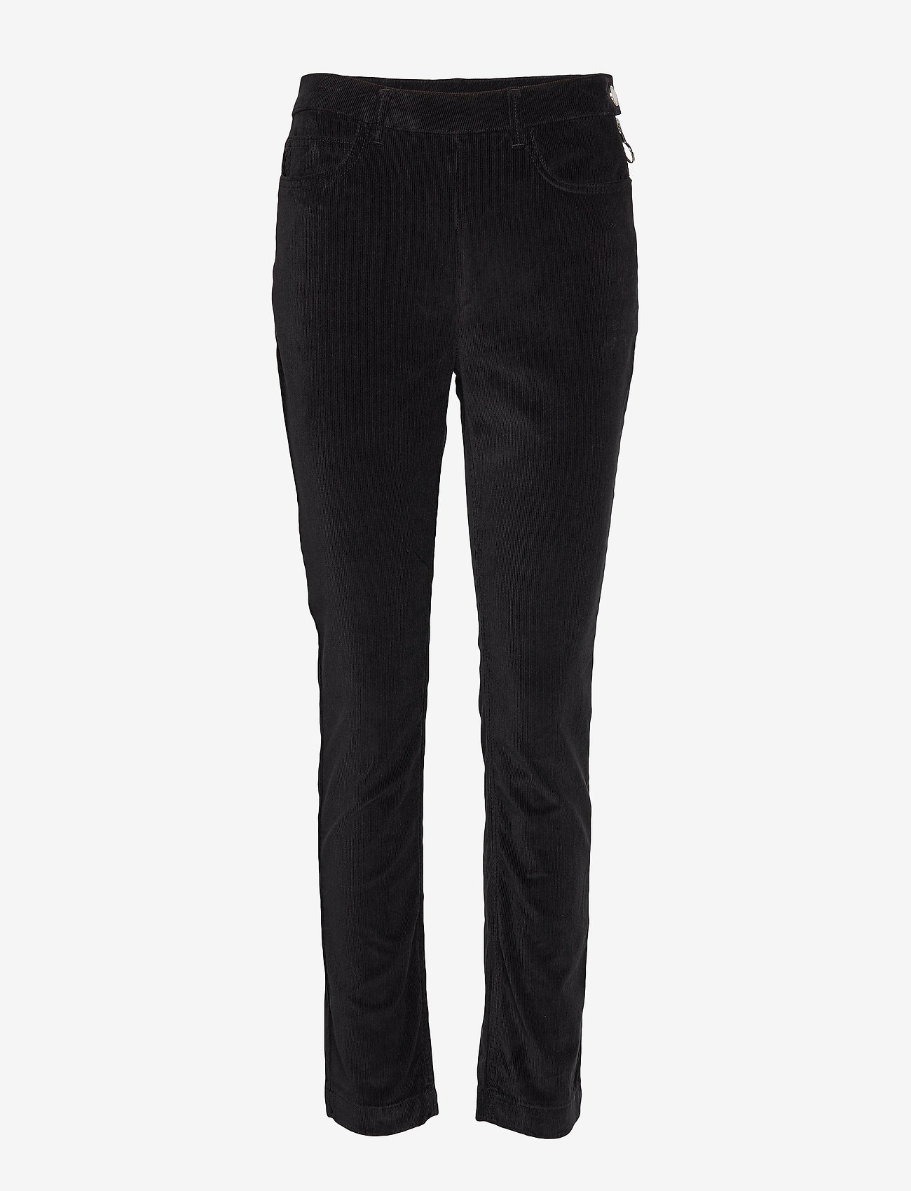 2NDDAY - 2ND Jeanett Cord - straight leg trousers - black - 0