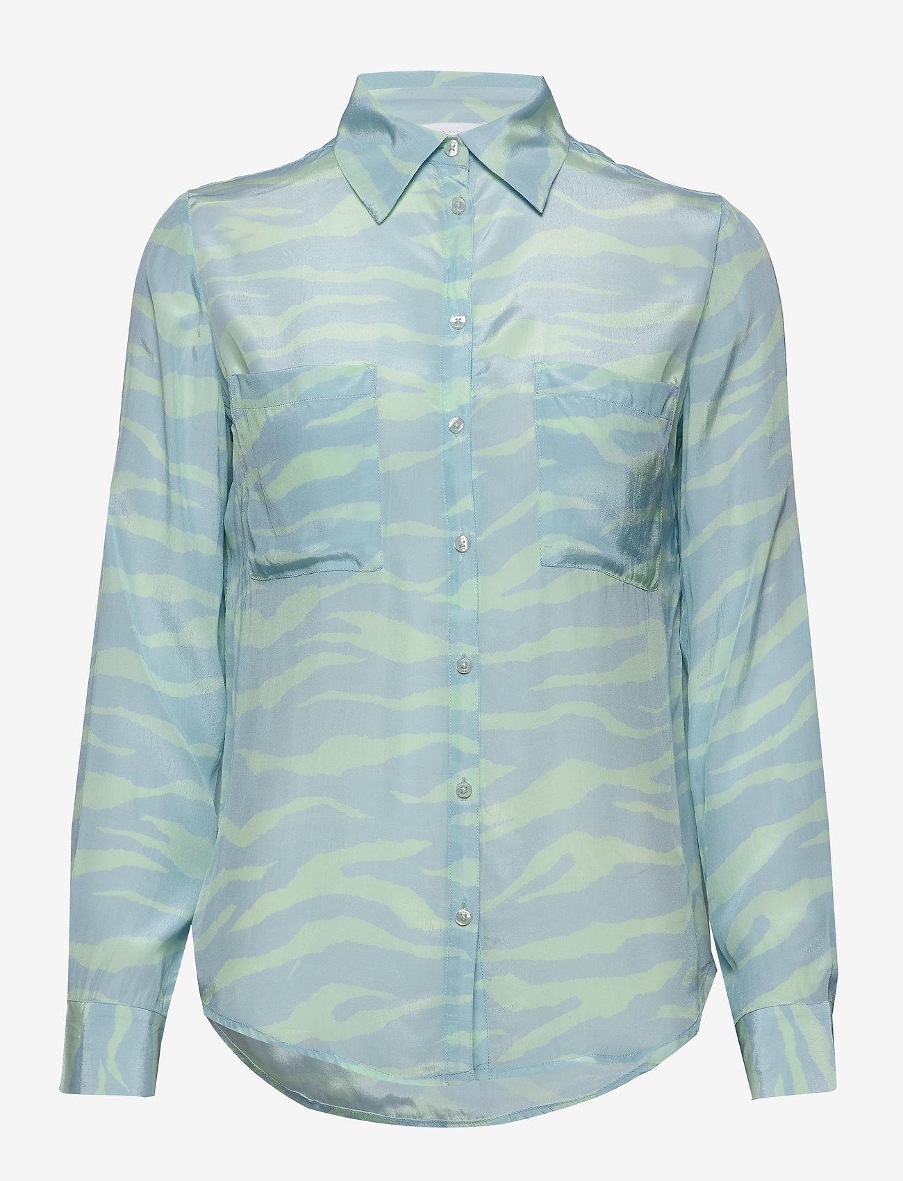 2NDDAY - 2ND Gwen Zebra - pitkähihaiset paidat - brook green