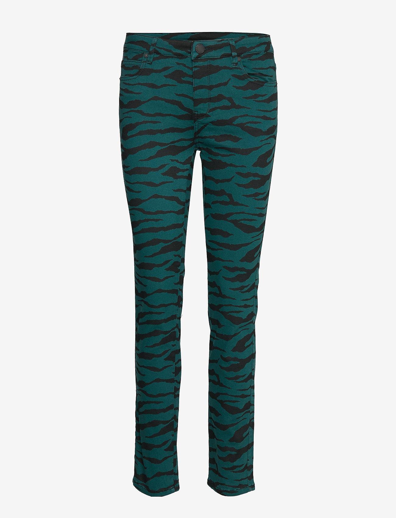 2NDDAY - 2ND Sally Cropped Zebra - skinny farkut - atlantic deep