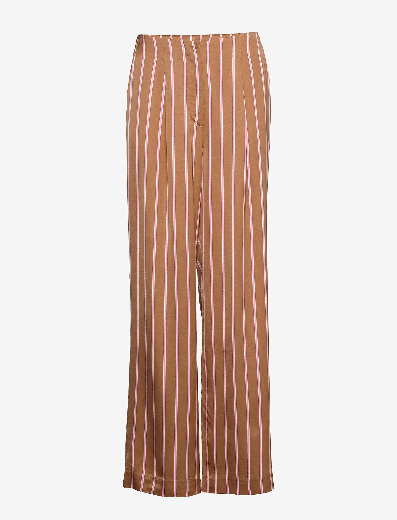 2NDDAY - 2ND Bradley Stripe - wide leg trousers - india - 0