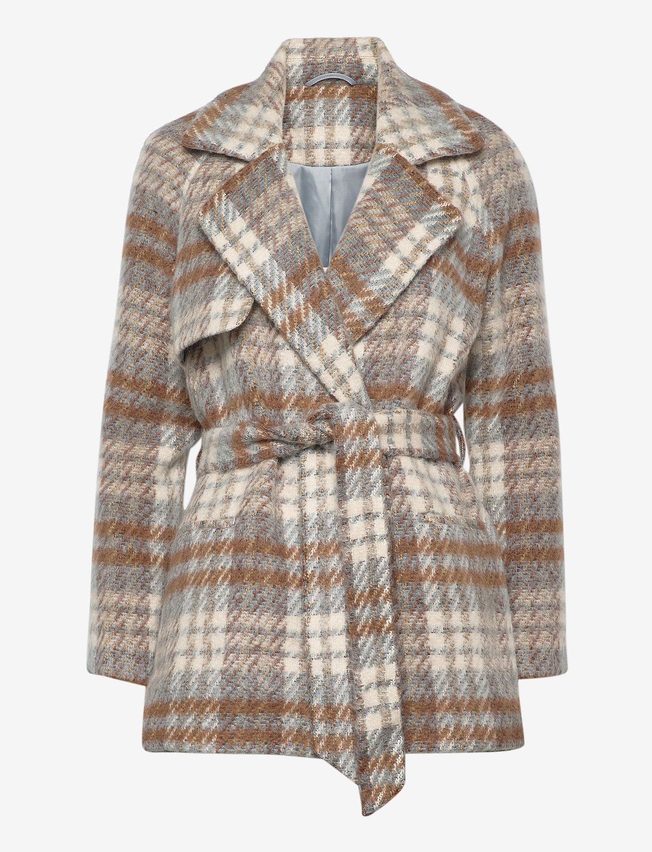 2NDDAY - 2ND Lana Check - wool jackets - faded denim - 0