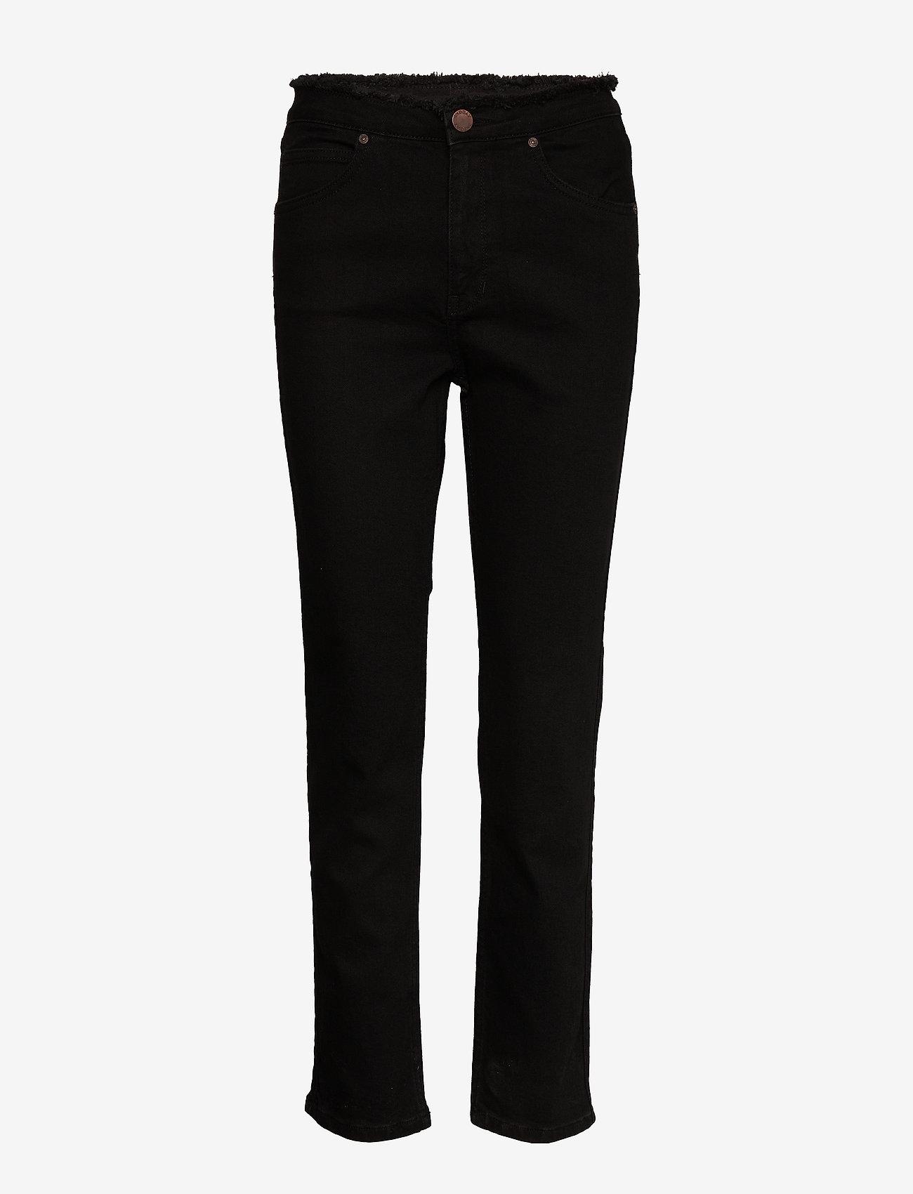 2NDDAY - 2ND Riggis Comfort ThinkTwice - broeken med straight ben - black denim - 0