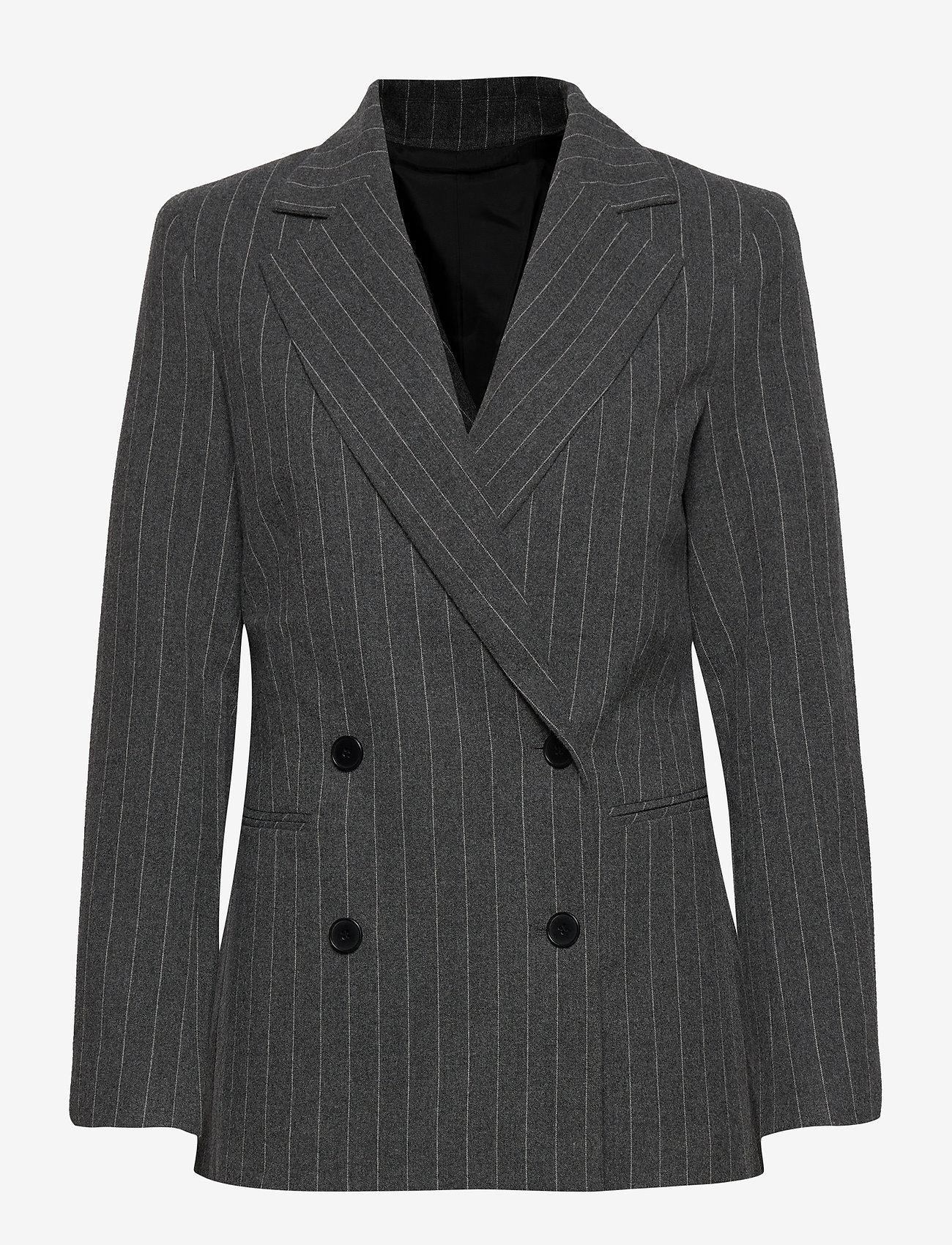 2NDDAY - 2ND Brook Pinstripe - getailleerde blazers - dark grey mel. - 0