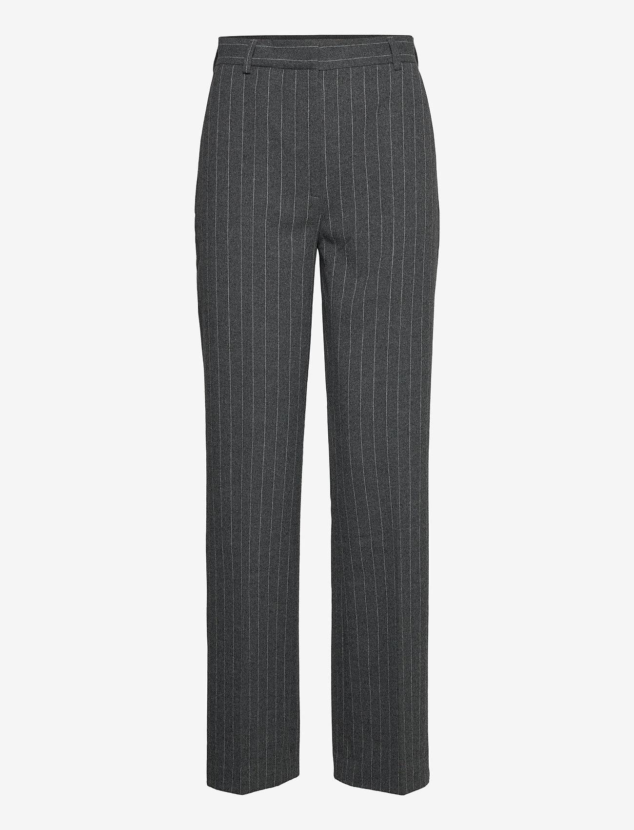 2NDDAY - 2ND Soap Pinstripe - broeken med straight ben - dark grey mel. - 0