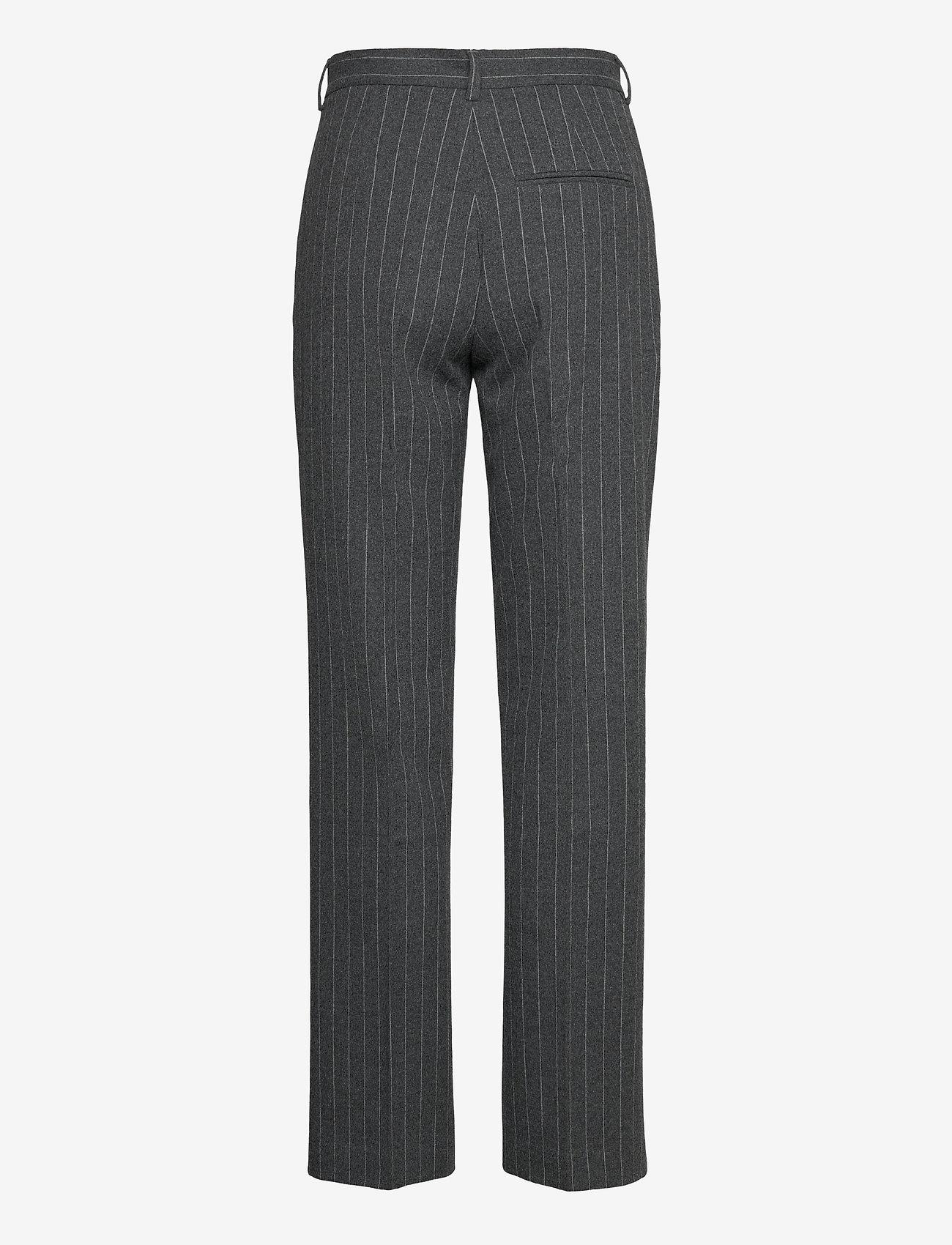 2NDDAY - 2ND Soap Pinstripe - broeken med straight ben - dark grey mel. - 1
