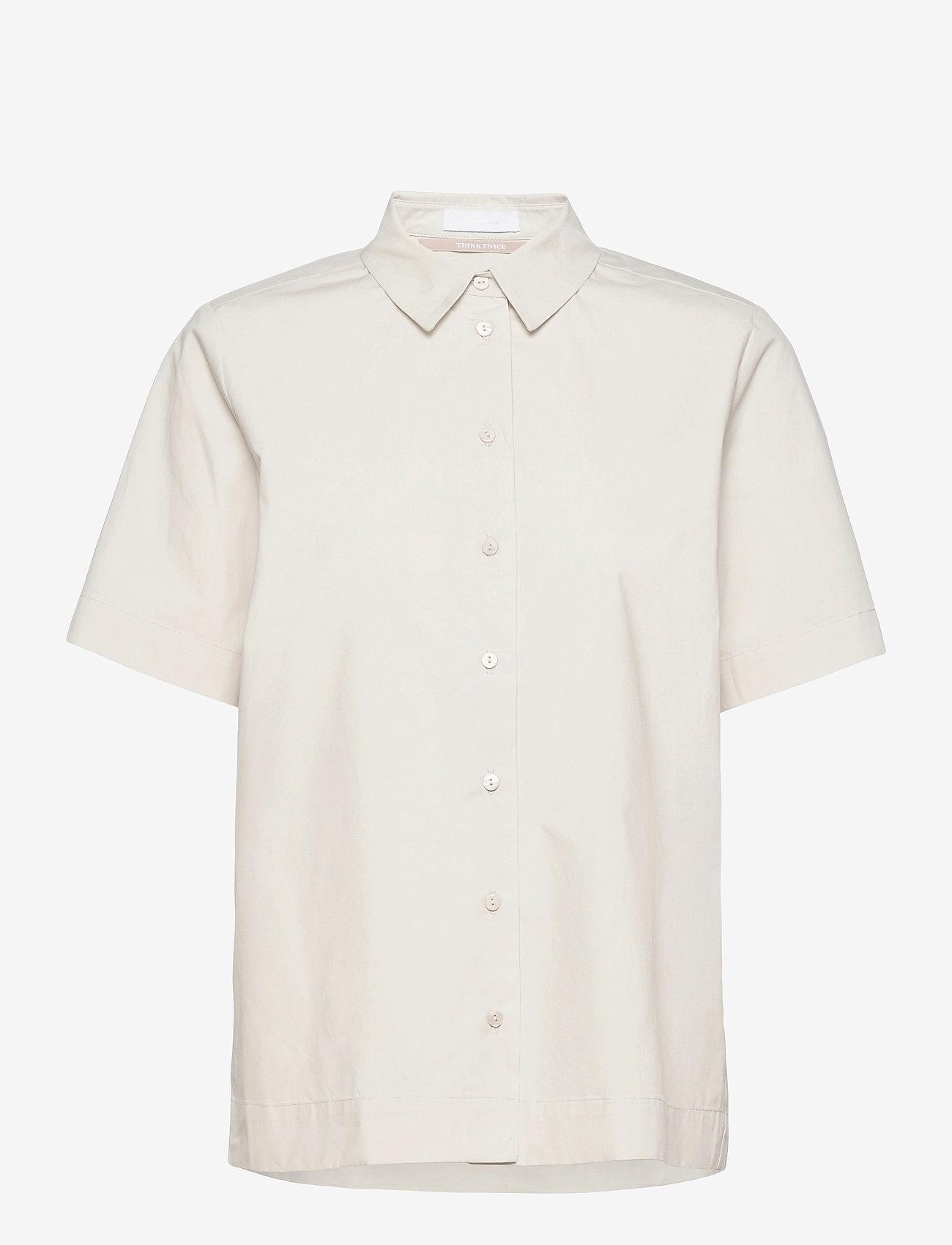 2NDDAY - 2ND Gennady Thinktwice - short-sleeved shirts - silver birch - 0
