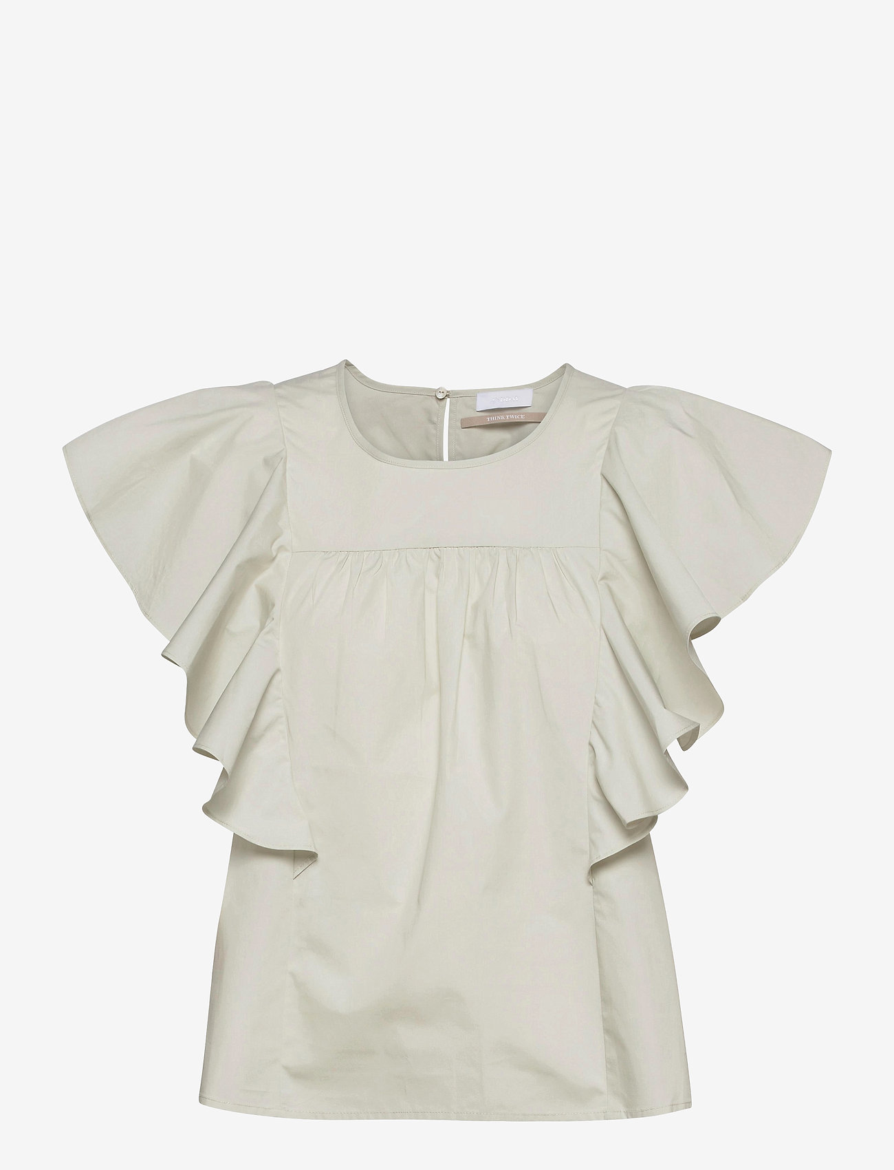 2NDDAY - 2ND Leonid Thinktwice - short-sleeved blouses - silver birch - 0