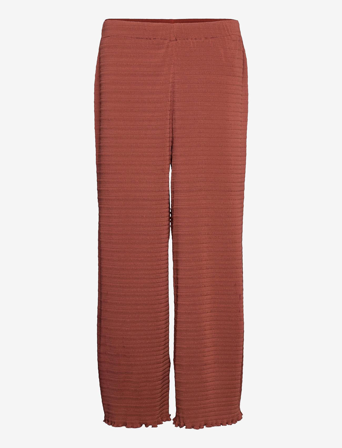 2NDDAY - 2ND Elmira - bukser med brede ben - henna - 1