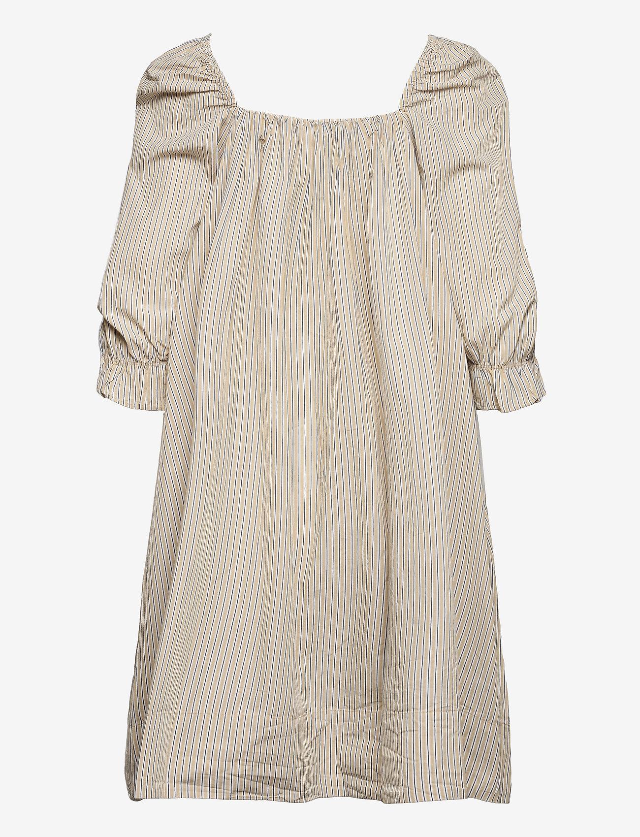 2NDDAY - 2ND Tiana Stripe - midi dresses - taos taupe - 2