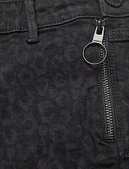 2NDDAY - 2ND Jeanett Leopard - skinny jeans - black denim - 3