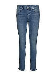 2nd Sally Cropped Waterfront Skinny Jeans Blå 2NDDAY