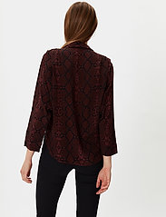 2NDDAY - 2ND Rosewood Snake - long-sleeved shirts - chocolate plum - 3